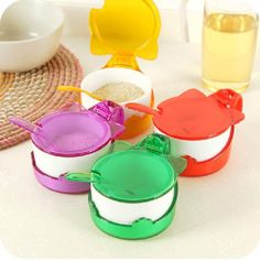 Aliexpress.com : Buy Candy Color Containers for Spice Creative Cooking Tools Detachable Seasoning Spice Jar Clamshell Salt Prepper Shaker with Spoon from Reliable tool belts for sale suppliers on Shenzhen Haillad International Trade Co., Ltd. | Alibaba Group