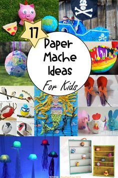 There is so much you can create with paper mache! This collection of over 17 paper mache crafts for kids includes lots of creative, hands-on ideas for kids. #papermache #papermachecrafts #papermacheprojects #papermachecraftsforkids Paper Mache Crafts For Kids, Easy Crafts For Kids, Craft Activities For Kids, Toddler Crafts, Preschool Crafts, Art For Kids, Paper Crafts, Sensory Activities, Kids Fun