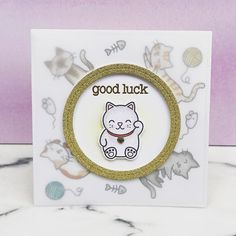 I've had the lucky charm set for forever without using it, so I figured I could pair it with the new #lawnfawn cats