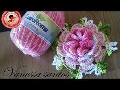 Watch The Video Splendid Crochet a Puff Flower Ideas. Wonderful Crochet a Puff Flower Ideas. Crochet Puff Flower, Crochet Flower Tutorial, Crochet Leaves, Crochet Snowflakes, Crochet Flower Patterns, Crochet Designs, Crochet Doilies, Crochet Flowers, Unique Crochet