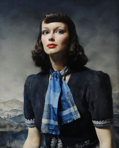 Mona Lisa background … By the Hills (1939) by Gerald Brockhurst