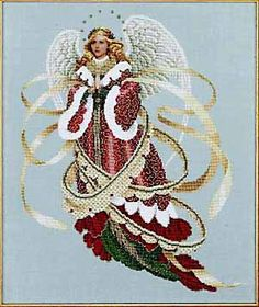 christmas angels cross stitch patterns and kits Celtic Cross Stitch, Cross Stitch Angels, Cross Stitch Kits, Cross Stitch Charts, Counted Cross Stitch Patterns, Christmas Charts, Christmas Cross, Christmas Angels, Xmas