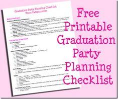 Free Printable Graduation Party Planning Checklist