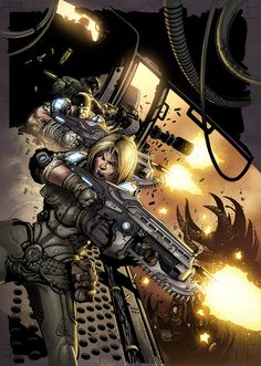 A Gears of war Commision by Carlos Gomez that i threw some colors on Lines: Carlos Gomez Colors: Me