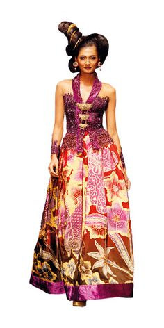 Kebaya with A line dress