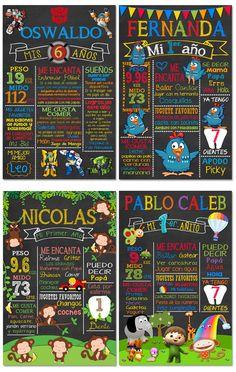 Pizarra Cumpleaños Pizarron Vintage Cartel Chalkboard Invita - $ 285.00 Chalkboard, Printables, Lettering, Birthday, Books, Safari, Tv, Packaging, Stickers