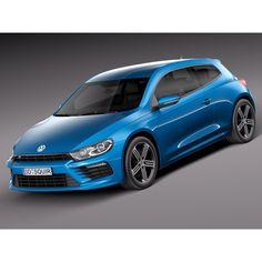 Volkswagen Scirocco R 2015 - 3D Model