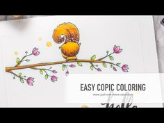 Easy Copic Coloring with Purple Onion Designs - YouTube