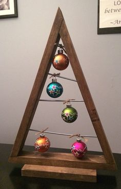 Wooden modern Christmas tree shelf/table by ObsessiveConstructor