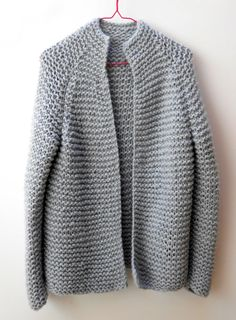 Chunky knit wool cardigan choose your color loose by FloralForest