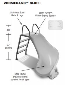 Pin this on your Pinterest wall to save an extra $1.00 off an order of $20 or more. InterFab Zoomerang Right Curve White