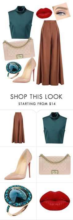 """""""Eleganze"""" by inok-lay ❤ liked on Polyvore featuring Zimmermann, TIBI, Christian Louboutin, Chanel, Annoushka, Winky Lux and GET LOST"""