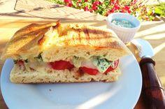 Caprese Pesto Panini Sandwich