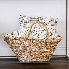 Woven items break up the common textures in a room.