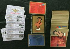 Disney Aladdin 1993 Skybox Full Set of 90  Base Cards  in Plastic Box EXCELLENT Collectible Cards, Full Set, Aladdin, Base, Plastic, Animation, Disney, Plastic Art, Motion Design