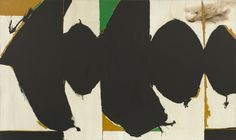 Robert Motherwell, 'Elegy to the Spanish Republic, 108', 1965-67. Oil on canvas. 208.2 x 351.1 cm. This large scale artwork describes Motherwell's relationship with Automatism and how his brushstrokes were unconscious marks of gesture and emotion.