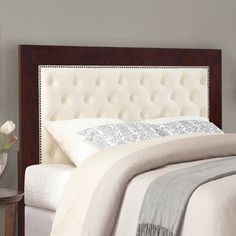 33 ideas diy headboard wall mount bed frames for 2019 Black Headboard, Panel Headboard, White Upholstered Bed, Trendy Bedroom, Luxurious Bedrooms, Bed Design, Decoration, Bed Frames, Diy Wall