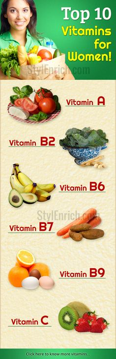 In today's hectic and stressful life, #health has become a very important factor to be considered. It is very essential for women to become more health conscious and take good care of themselves. #Vitamins are organic compounds that are essential to the proper and healthy functioning of the body. Following is the list of top 10 vitamins for women that are all required in the correct proportion to the body.