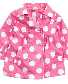 Carter's Baby Girls Polka Dot Trech Coat