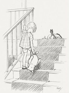 Christopher Robin and Winnie-the-Pooh by Ernest Shepherd