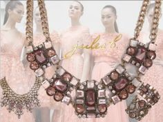 pretty airy pastels for spring! #pastelcolors #spring #peach #julesbjewelry #springfashionjewelry #springrunway