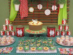 Festa infantil com o tema Pizzaria da Maria - transforme sua casa em uma autêntica tratoria italiana