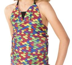 Tankini Top to match your mermaid tail. The Rainbow scale is bright, cheerful, splashy, fun, and exciting.Can't decide which color to get? Fin Fun Mermaid, Tankini Top, Swimsuit Tops, Swimsuits, Swimwear, Cover Up, Rainbow, Cook, Shopping