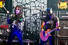 Alice Cooper and Slash perform at the 4th Annual Revolver Golden God Awards at Club Nokia in Los Angeles on April 11th, 2012.