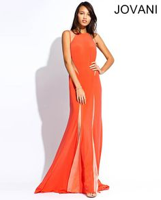 Open back sleeveless Jovani gown