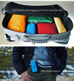 INFLATABLE, WATERPROOF, ANTI-SHOCK: CAPSULA BACKPACK & BAG by IMAGINATION FARM USA LLC — Kickstarter