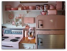 glamper inspiration ~ pale pink and white beadboard