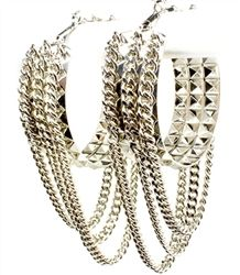 For the rocker inspired look. Go punk with these funky earrings embellished with drop chains. $14.99
