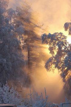 icy sun rise