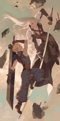 """awanqi illustration — """"Dominion"""" My thesis continues! Final Fantasy Cloud, Final Fantasy Artwork, Final Fantasy Characters, Final Fantasy Vii Remake, Video Game Characters, Fantasy Series, Final Fantasy Collection, Fan Art, Fanarts Anime"""