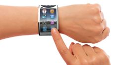 Apple iWatch Concept Design created by the consulting team Jivaldi. This iWatch concept featrues a 360 degree design, facetime and more. Wearable Computer, Wearable Technology, Smartwatch, Make My Day, Ios, Technology Support, Teaching Technology, Must Have Gadgets, Health Fitness