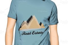 Check out Mountain Real State Logo on Creative Market Photoshop Brushes, Fonts, Mountain, Logo, Creative, Check, Pattern, Mens Tops, Design