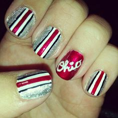 30 Best Ohio State Nails Images On Pinterest Ohio State Nails