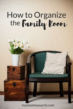 You can't have a cozy family room when its overflowing with clutter! Learn how to organize the family room with some family room storage ideas, so that your family can play and relax in one of the most used rooms of the home.