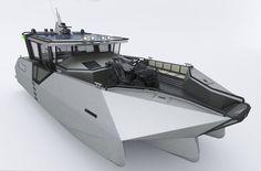 Quadrimaran work boat / outboard / aluminum - T-14 Baroudeur - Tera-4