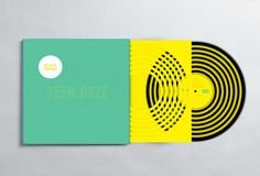 Teen Daze conceptual album cover and sleeve design on Behance