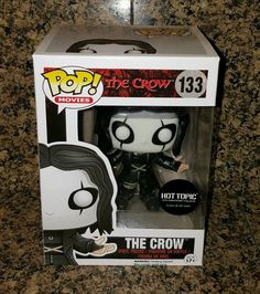 RARE Hot Topic EXCLUSIVE Funko Pop Vinyl Glow in Dark The Crow 25th Anniversary in Collectibles, Pinbacks, Bobbles, Lunchboxes, Bobbleheads, Nodders | eBay
