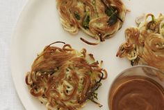 Sesame Scalion Lo Mein Pancakes