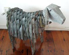 corrugated iron sheep medium