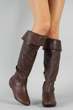 Amazon.com: Brown Pirate Corset Over the Knee Riding Boots Womens