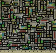Plug & Play Plug  Cotton Fabric by Kaufman  Premium by supplywagon