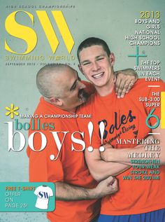 SWM September 2013  Pictured: Coach Sergio Lopez with Ryan Murphy