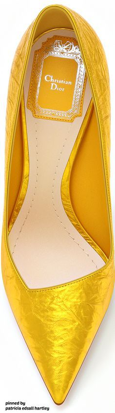 Christian Dior shoes 2016~ shoes,yellow, heels, Dior, designer shoes,women's shoes