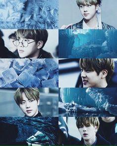 kpop trash but mostly bts trash; Seokjin, Collages, Theme Background, Bts Backgrounds, Bts Fans, Bts Edits, Blue Aesthetic, Worldwide Handsome, Bts Group