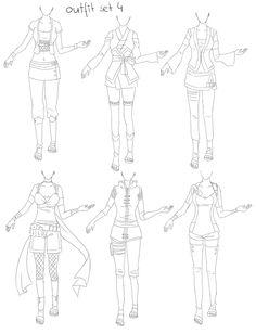 outfit set 4: ninja by Kohane-chan