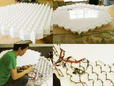 super nature: 'new angles' interactive light installation